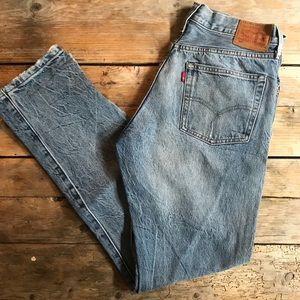 "Levi's white oak denim jeans 29"""